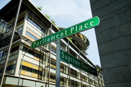 Road Signs Corner - Singapore Banque d'images