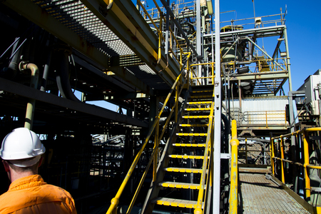 Mining Process Plant in the Field Imagens
