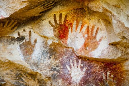 Cave of the Hands - Argentina 免版税图像 - 128447130