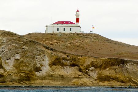 San Isidro Lighthouse - Magdalena Island - Chile 写真素材