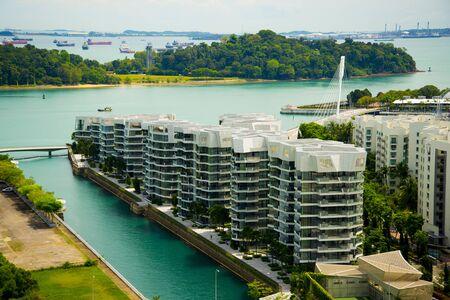 Modern Apartments in Singapore City Stock fotó
