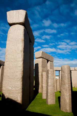 Stonehenge Replica - Esperance - Australia Stock Photo