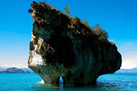 Marble Caves - Carrera Lake - Chile Stock Photo