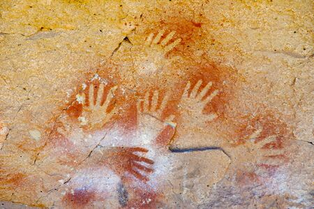 Cave of the Hands - Argentina 免版税图像 - 132467050