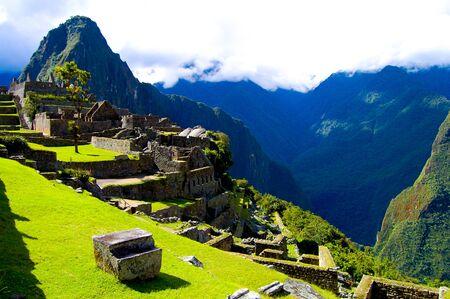 Machu Picchu Inca Ruins - Peru 写真素材 - 133162514