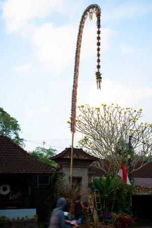 Religious Penjor Pole - Bali - Indonesia
