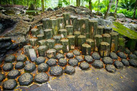Geological Columnar Jointing of Igneous Rocks 写真素材