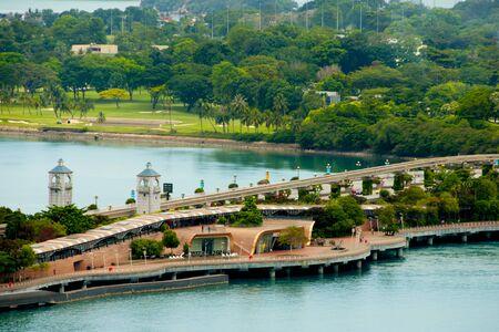 Sentosa Gateway Bridge - Singapore 写真素材