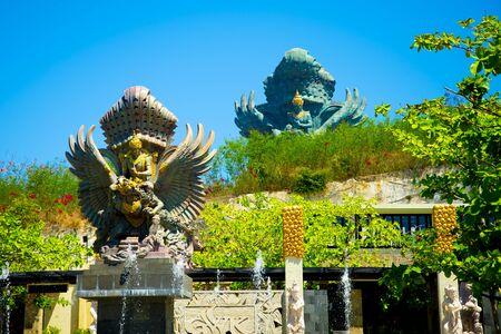 Garuda Fountain Statue in Plaza Kencana - Bali - Indonesia 写真素材