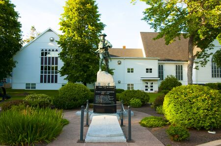 Summerside, Canada - August 9, 2016: World War I memorial commemorates the residents of Prince County who were killed or missing in the Great War Sajtókép