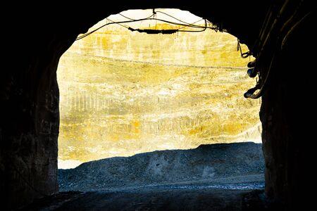 Portal for an Underground Mine 写真素材