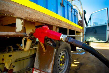 Fuel Nozzle Pumping Diesel in Car