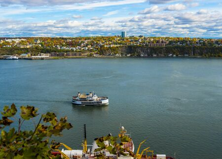 St Lawrence River - Quebec City - Canada 写真素材