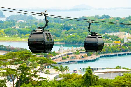 Cable Cars in Sentosa - Singapore