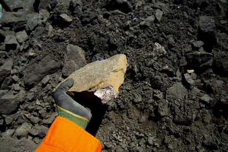 Massive Sulfide Nickel Ore Rock