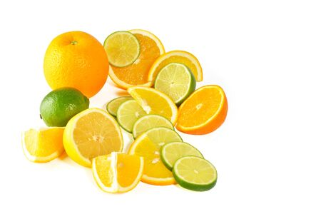 citric: Fresh citric fruit isolated on white background