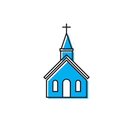 Church icon on white background Vector illustration Иллюстрация