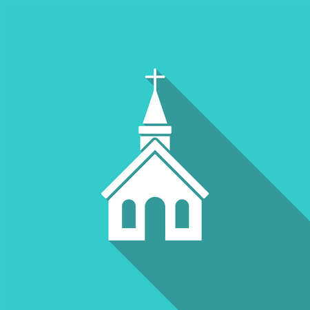 Church icon on white background Vector illustration Illustration