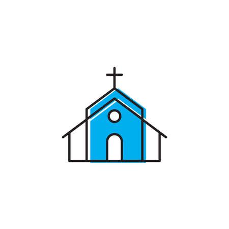 Church icon on white background Vector illustration  イラスト・ベクター素材