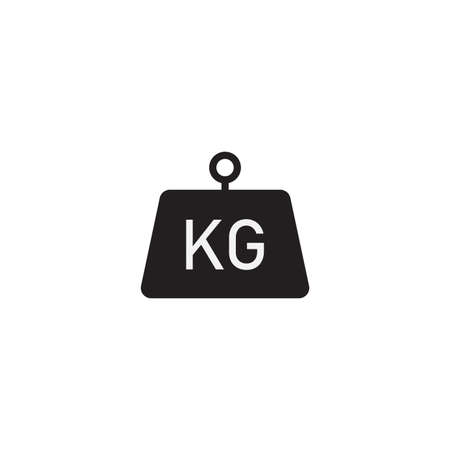 Kilogram vector icon flat style isolated on white background Ilustrace