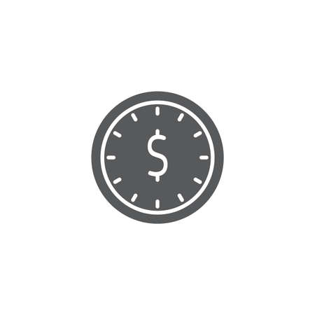 Time is money vector icon isolated on white background Illustration