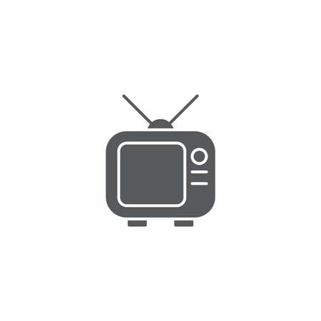 television vector icon design concept, isolated on white background  イラスト・ベクター素材