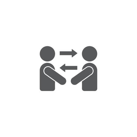 persons exchange or switch persons vector icon concept, isolated on white background