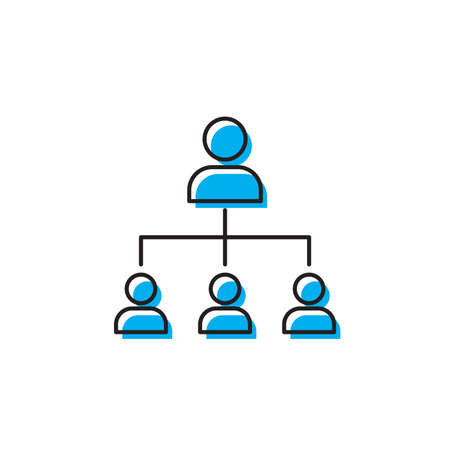 organizational chart vector icon concept, isolated on white background Ilustrace