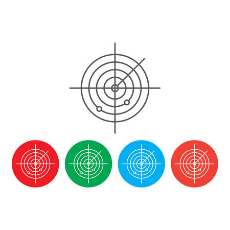 radar vector icon concept, isolated on white background Ilustração