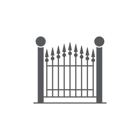 decorative gate vector icon concept, isolated on white background Ilustrace