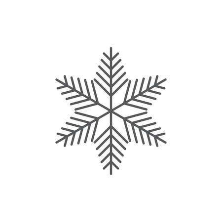 Snowflake flat icon, isolated on white background