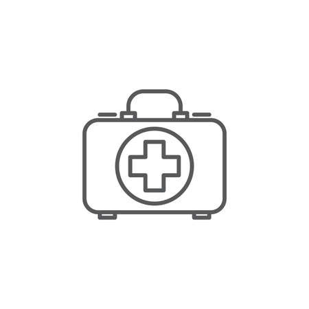 First aid kit vector icon, isolated on white background