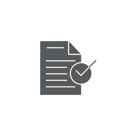 Approved document file vector icon isolated on white background