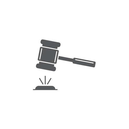 Auction mallet vector icon isolated on white background Vektorgrafik