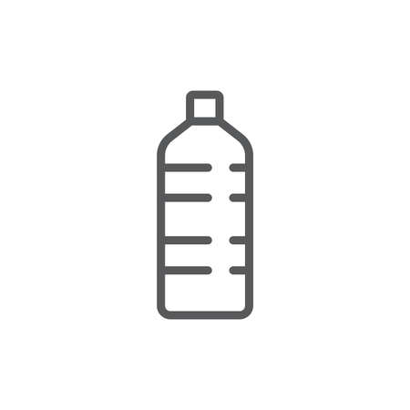 Bottle of water vector icon symbol isolated on white background