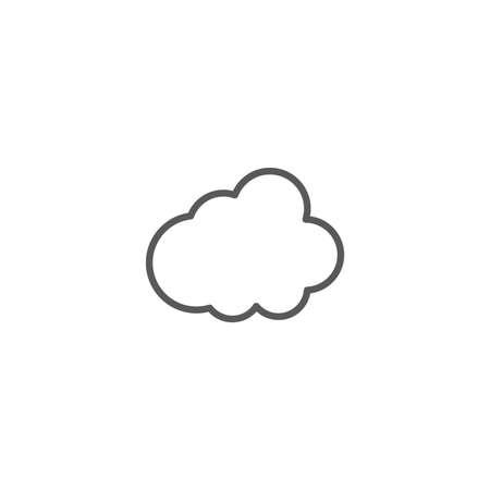 cloud vector icon illustration design isolated on white Vettoriali
