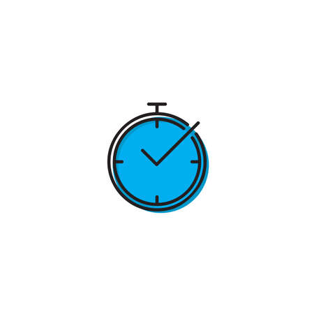 Check Time Icon Design Element isolated on white background