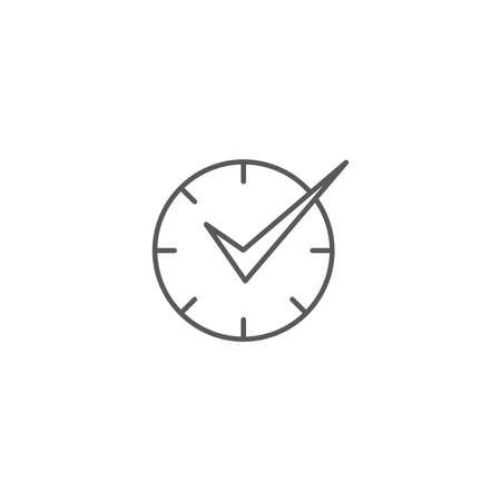 Check Time Icon Logo Design Element isolated on white background Ilustração