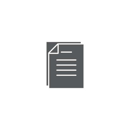 Document papers pile line icon, outline vector sign, linear style pictogram isolated on white