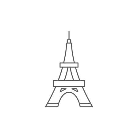 Eiffel Tower vector icon symbol isolated on white background