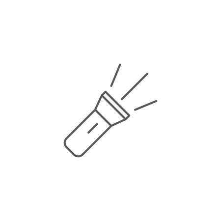 flashlight vector icon illustration design isolated on white