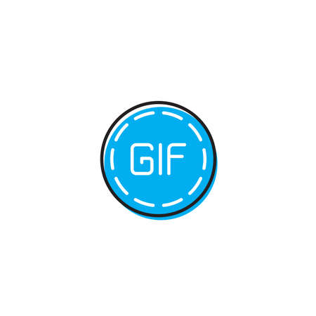 Play animation icon for social networks Circle GIF sign