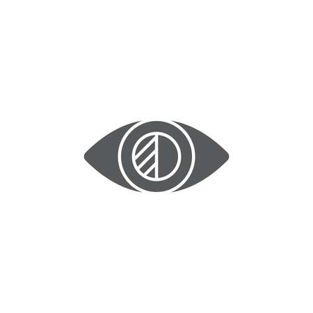Low Vision vector icon symbol isolated on white background Vector Illustratie