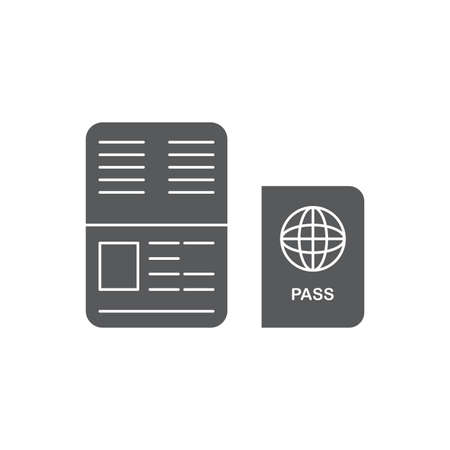 Passport vector icon, isolated on white background