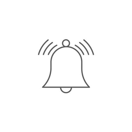 Ringing bell vector icon isolated on white background  イラスト・ベクター素材