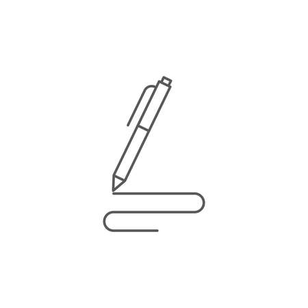 Pen, write vector icon isolated on white background