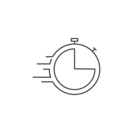 Timer vector icon symbol isolated on white background Illustration