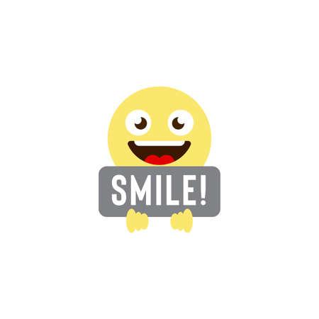 smile emoticons vector icon symbol isolated on white background
