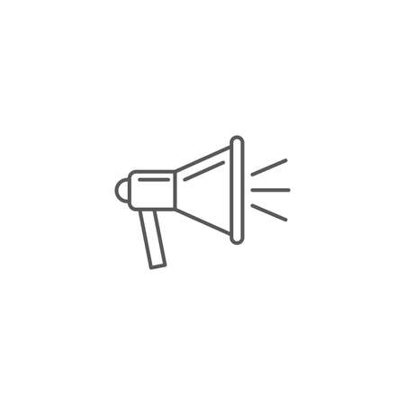 Icon megaphone or bullhorn Single Icon Graphic Design isolated on white background 向量圖像