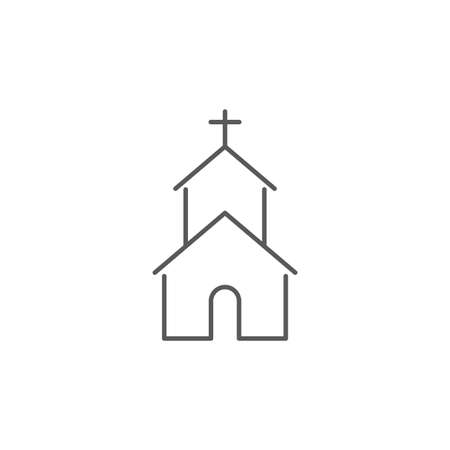 Church icon on white background Vector illustration
